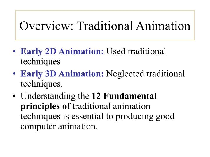Overview traditional animation