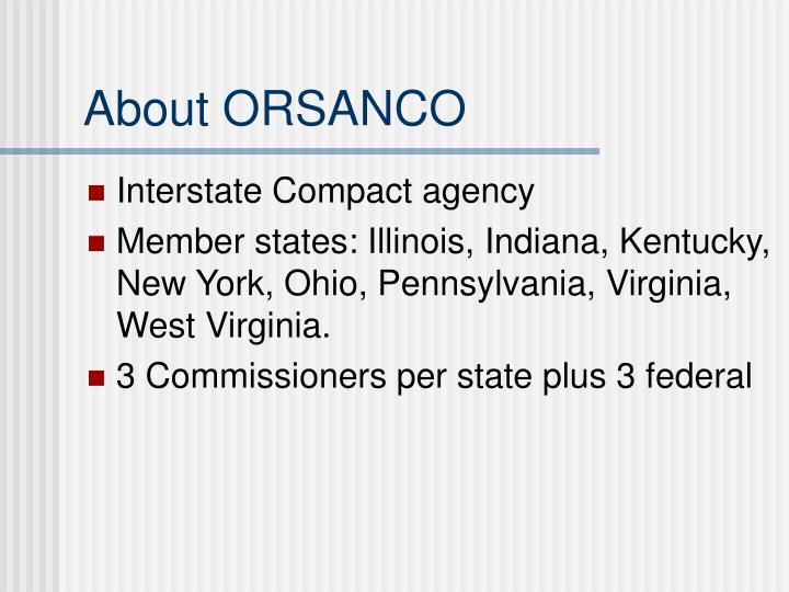 About ORSANCO