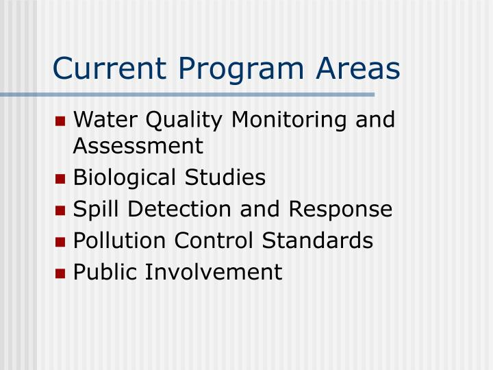 Current Program Areas