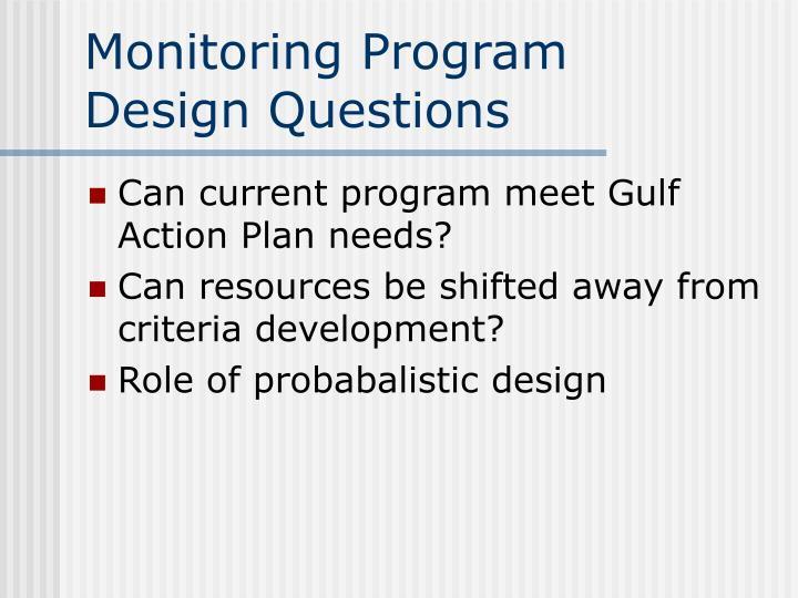 Monitoring Program