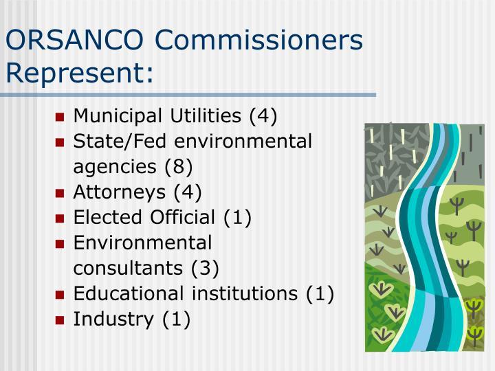 ORSANCO Commissioners Represent: