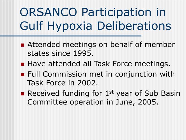 ORSANCO Participation in Gulf Hypoxia Deliberations