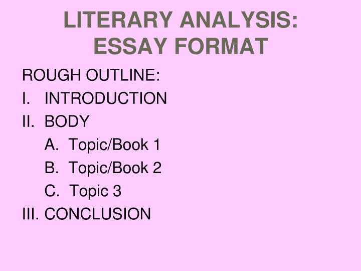 literary essay conclusion format