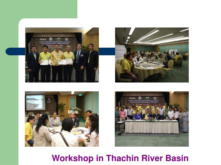 Workshop in Thachin River Basin