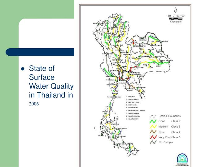 State of Surface Water Quality in Thailand in