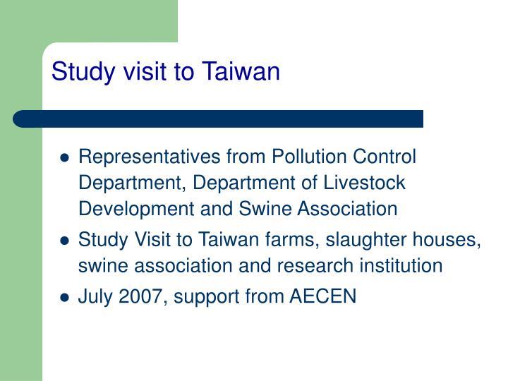 Study visit to Taiwan