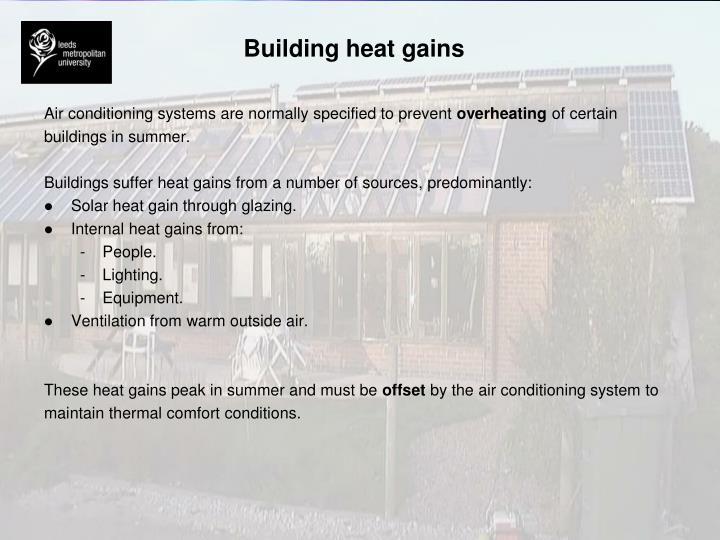 Building heat gains