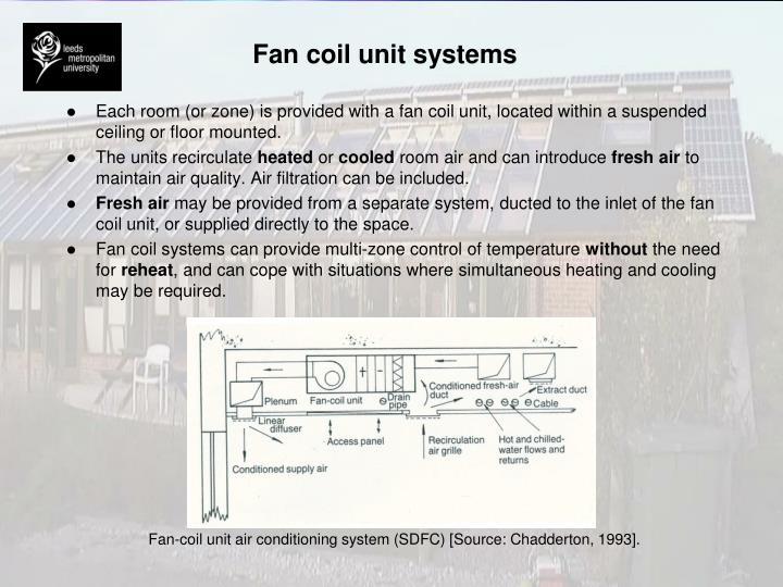 Fan coil unit systems