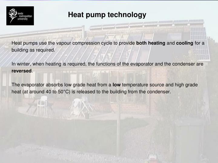 Heat pump technology