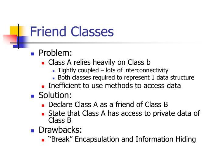 Friend Classes