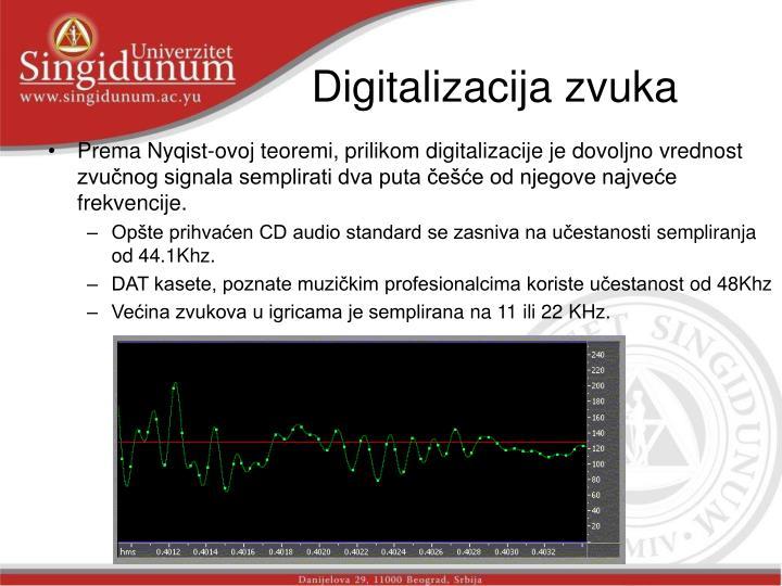 Digitalizacija zvuka