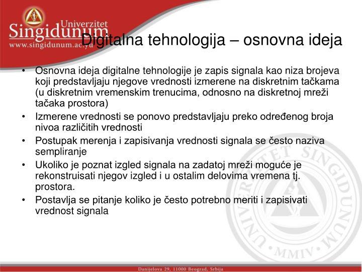 Digitalna tehnologija – osnovna ideja