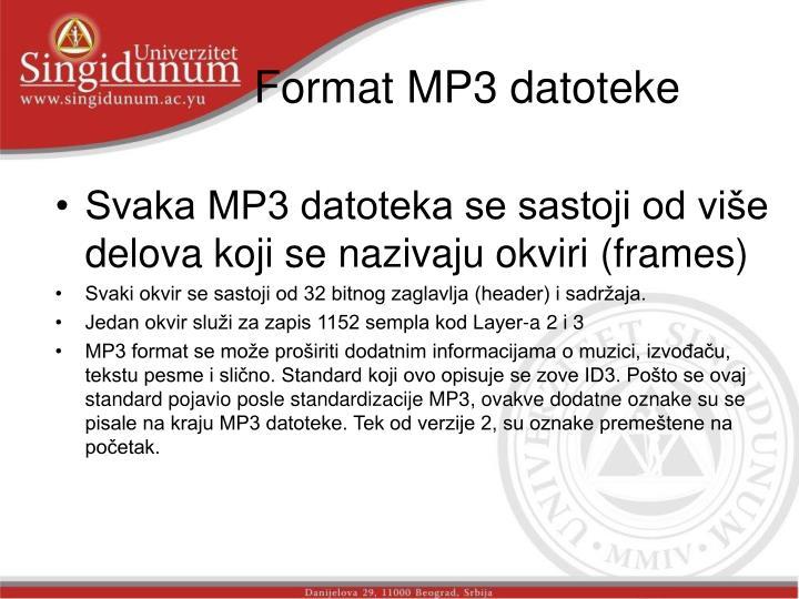 Format MP3 datoteke