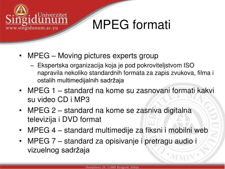 MPEG formati