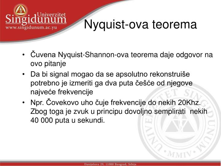 Nyquist-ova teorema