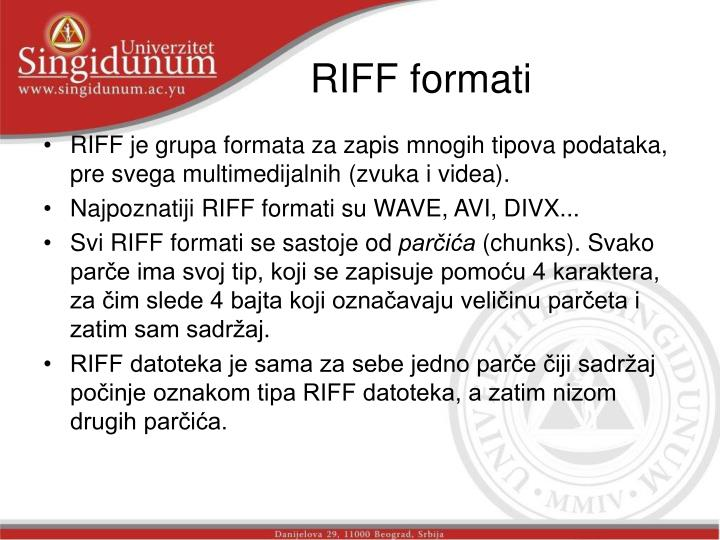 RIFF formati