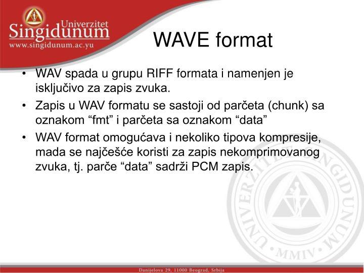 WAVE format