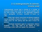 3 12 undergraduate academic course load