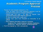 academic program approval process