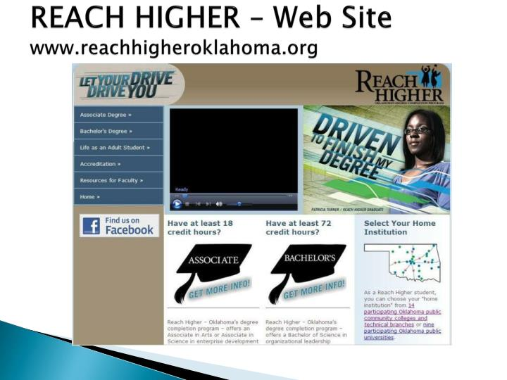 REACH HIGHER – Web Site