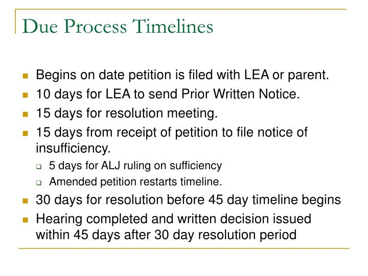 Due Process Timelines