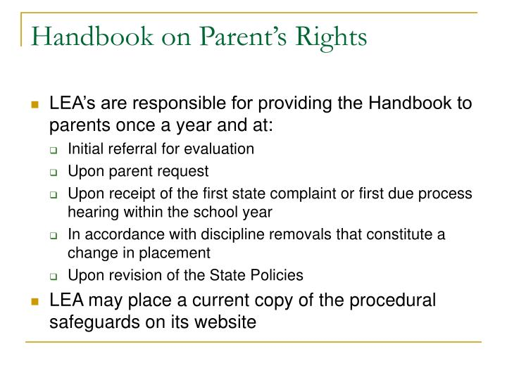 Handbook on Parent's Rights