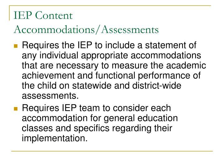 IEP Content