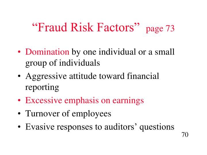 """Fraud Risk Factors"""