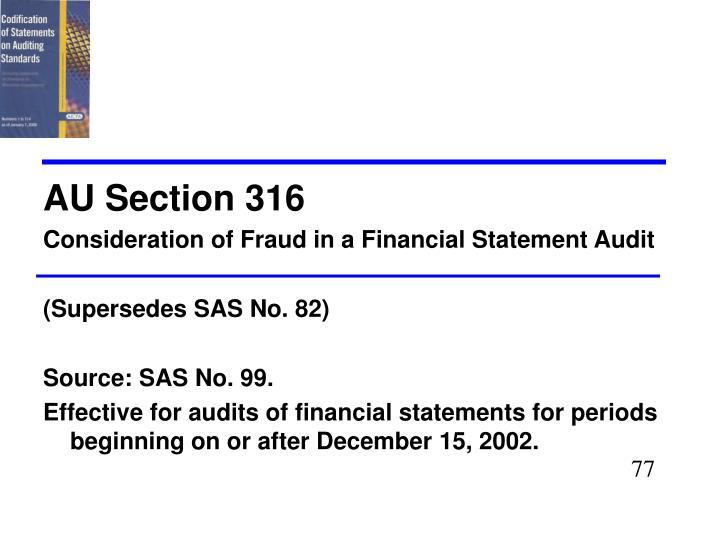AU Section 316