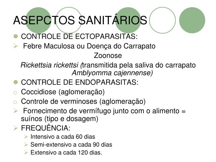 ASEPCTOS SANITÁRIOS