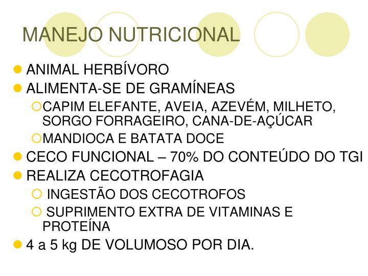 MANEJO NUTRICIONAL