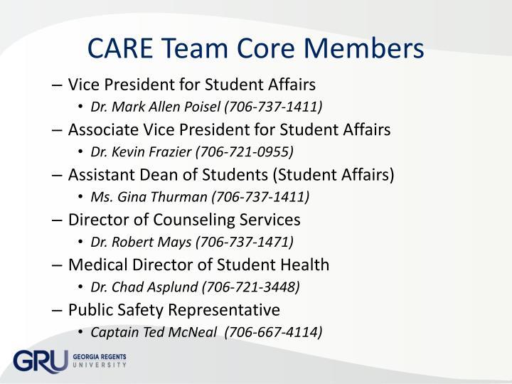 CARE Team Core Members