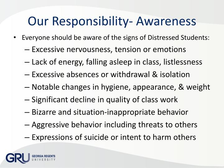 Our Responsibility- Awareness