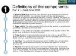 definitions of the components part 2 real time pcr