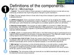 definitions of the components part 3 microarrays