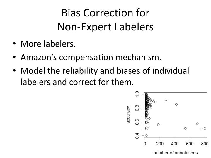 Bias Correction for