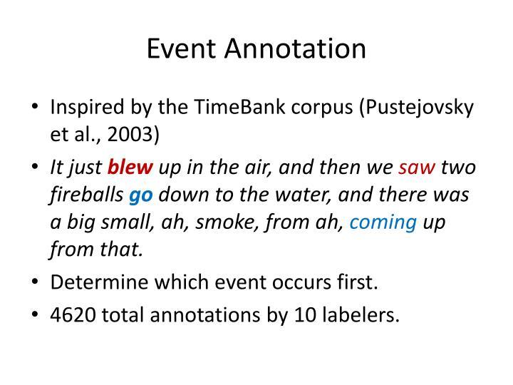 Event Annotation