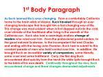 1 st body paragraph