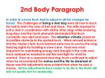 2nd body paragraph