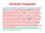 3rd body paragraph
