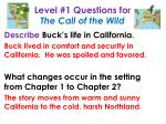 level 1 questions for the call of the wild1