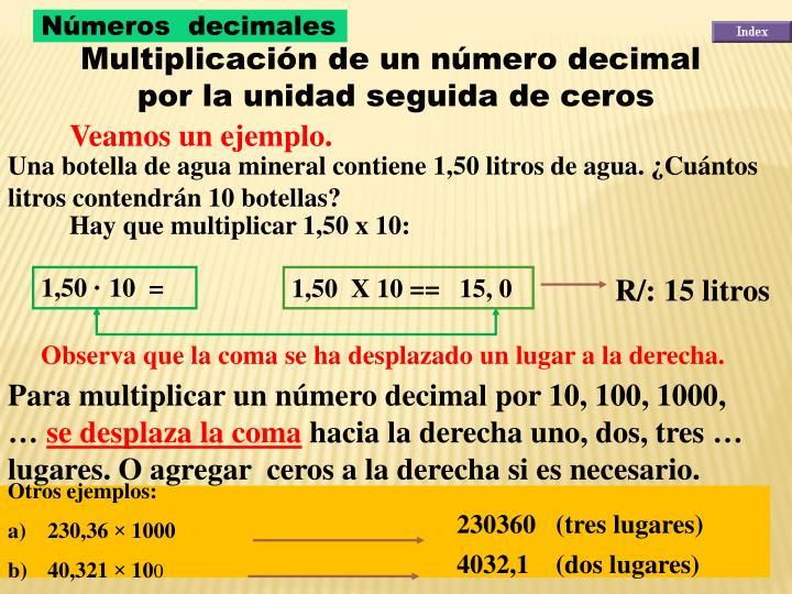 1,50  X 10 ==   15, 0