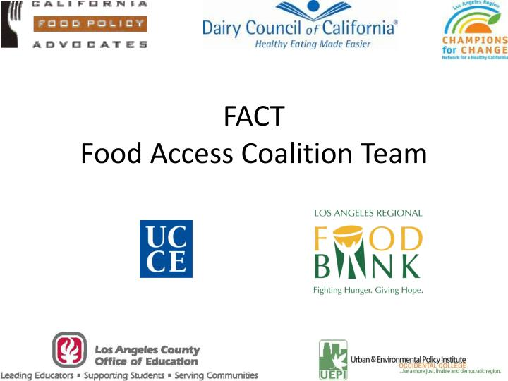 Fact food access coalition team