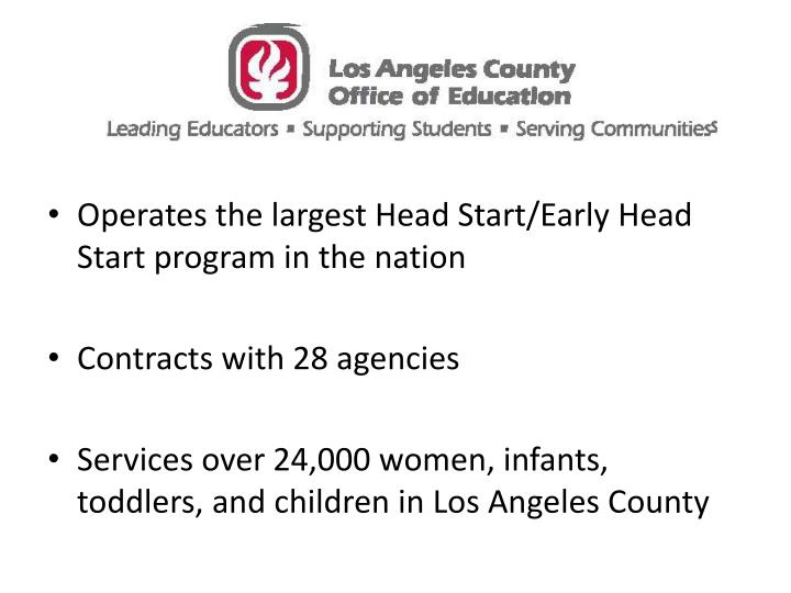 Operates the largest Head Start/Early Head Start program in the nation