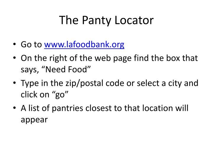 The Panty Locator