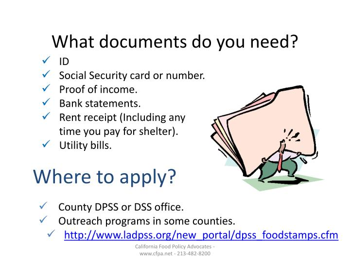 What documents do you need?