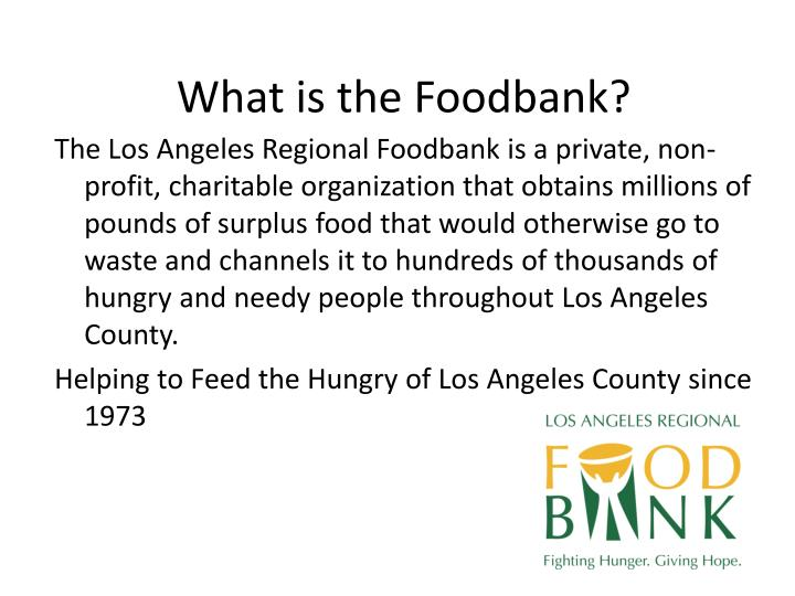 What is the Foodbank?