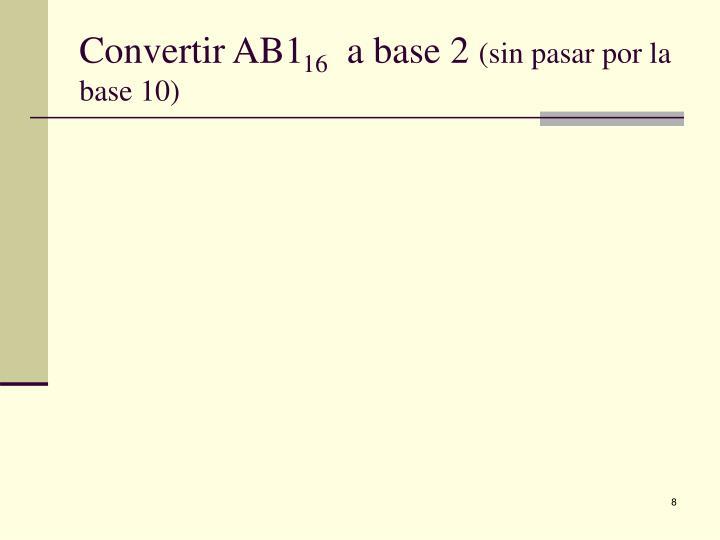 Convertir AB1