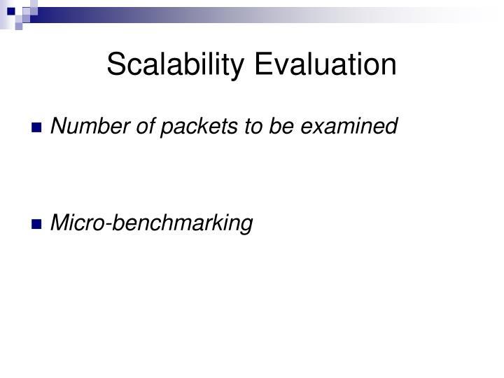 Scalability Evaluation