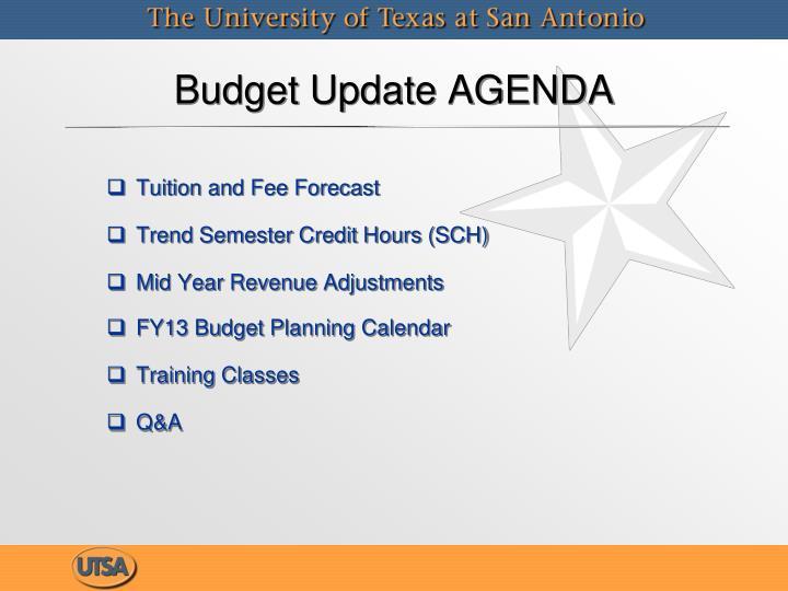 Budget Update AGENDA
